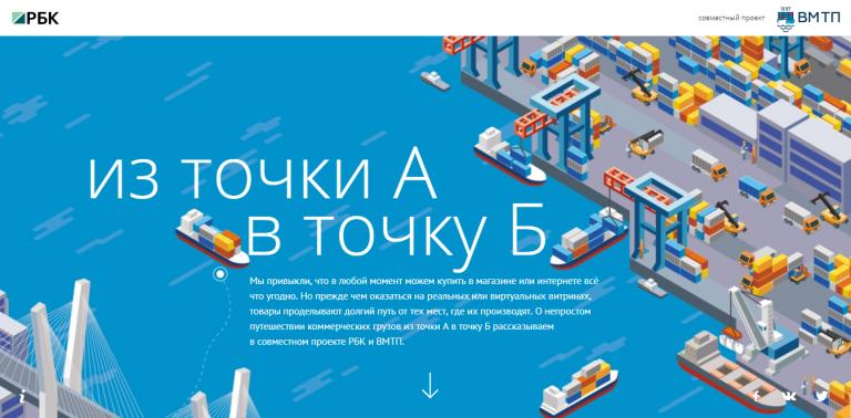 Владивостокский морской торговый порт. Из точки А в точку Б.