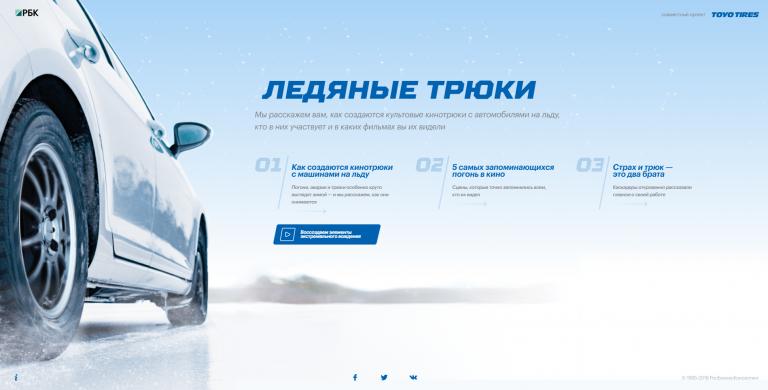 Toyo Tires. Ледяные трюки.